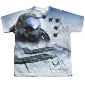 Air Force Pilot Short Sleeve Youth Poly Crew T-Shirt