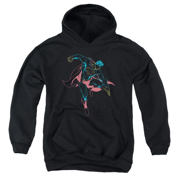 Superman Neon Superman Youth Pull Over Hoodie