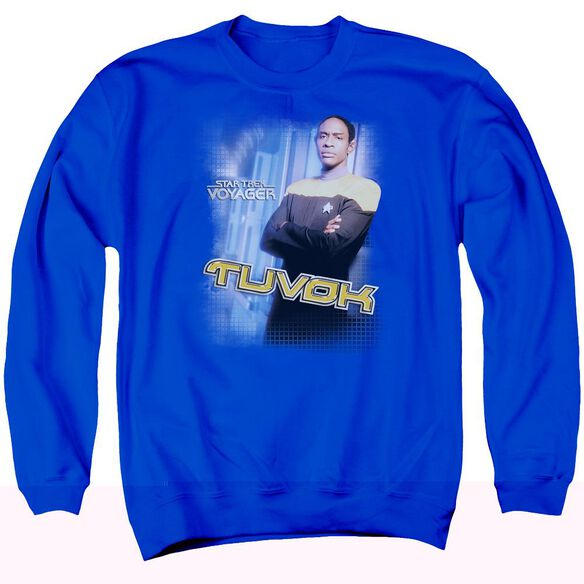 Star Trek Tuvok Adult Crewneck Sweatshirt Royal
