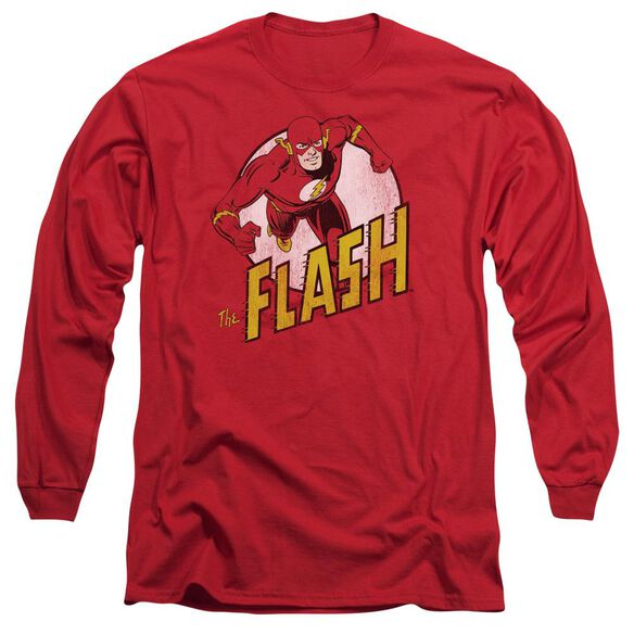 DC FLASH THE FLASH - L/S ADULT 18/1 - RED T-Shirt