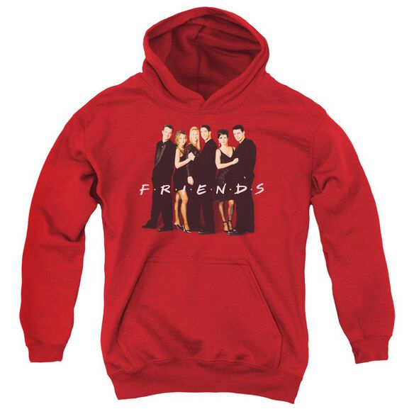 Friends Cast In Black Youth Pull Over Hoodie