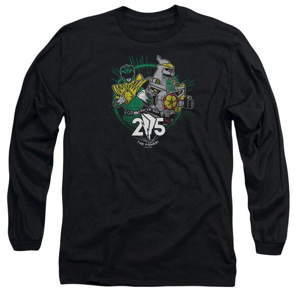 Power Rangers Green 25 Long Sleeve Adult T-Shirt