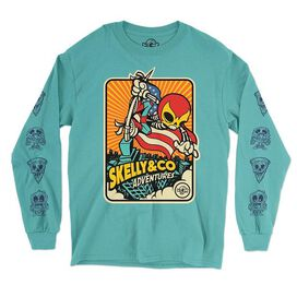 Skelly & Co Blue Flag Long Sleeve T-Shirt