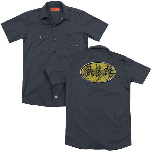Batman Celtic Shield (Back Print) Adult Work Shirt