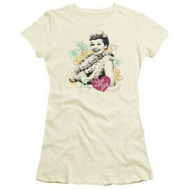 I Love Lucy Luau Graphic Short Sleeve Junior Sheer T-Shirt