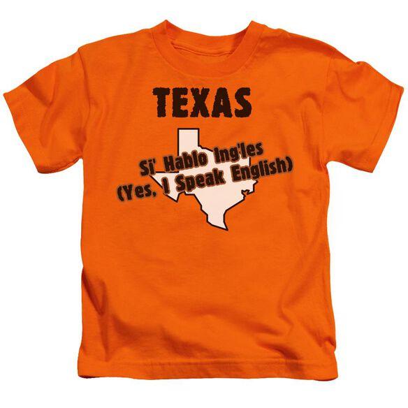 Texas Short Sleeve Juvenile Orange T-Shirt