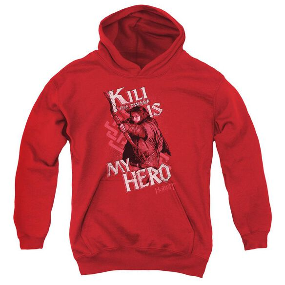 The Hobbit Kili Is My Hero Youth Pull Over Hoodie