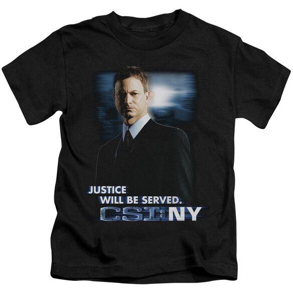 Csi:Ny Justice Served Short Sleeve Juvenile Black T-Shirt