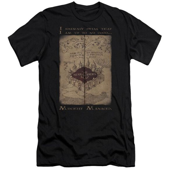 Harry Potter Marauders Map Words Hbo Short Sleeve Adult T-Shirt