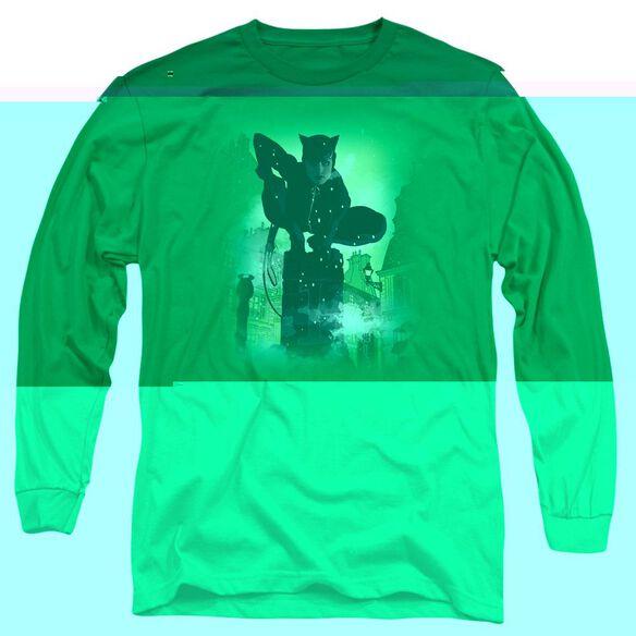 BATMAN CATWOMAN #63 COVER - L/S ADULT 18/1 - KELLY GREEN T-Shirt