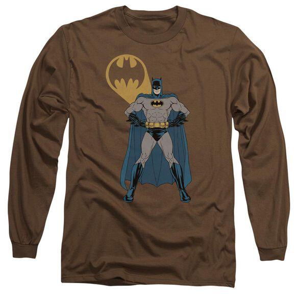 Batman Arms Akimbo Bats Long Sleeve Adult T-Shirt
