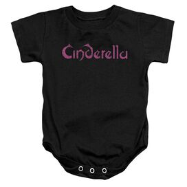 Cinderella Logo Rough Infant Snapsuit Black
