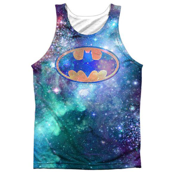 Batman Galaxy Symbol Adult 100% Poly Tank Top