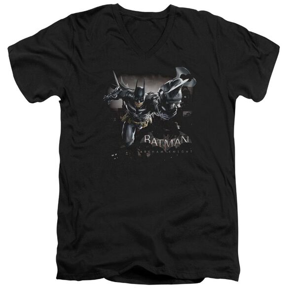 Batman Arkham Knight Grapple Short Sleeve Adult V Neck T-Shirt