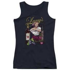 I Love Lucy Bitter Grapes - Juniors Tank Top - Black