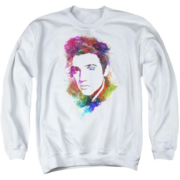 Elvis Watercolor King Adult Crewneck Sweatshirt