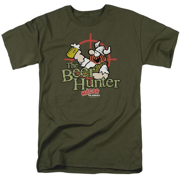 Hagar The Horrible Beer Hunter Short Sleeve Adult Military T-Shirt