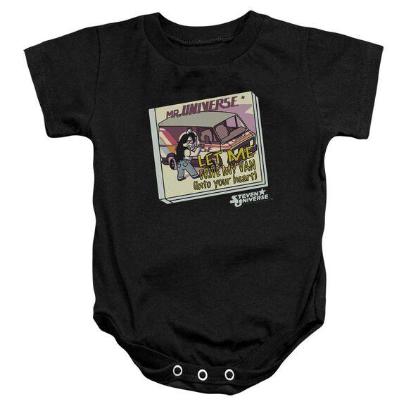 Steven Universe Mr. Universe Infant Snapsuit Black