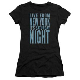 Snl Its Saturday Night Short Sleeve Junior Sheer T-Shirt