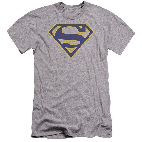 Superman Maize & Blue Shield Premuim Canvas Adult Slim Fit Athletic