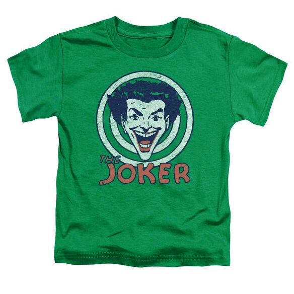 Dc Joke Target Short Sleeve Toddler Tee Kelly Green T-Shirt