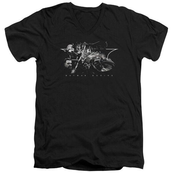 Batman Begins Night Natives Short Sleeve Adult V Neck T-Shirt