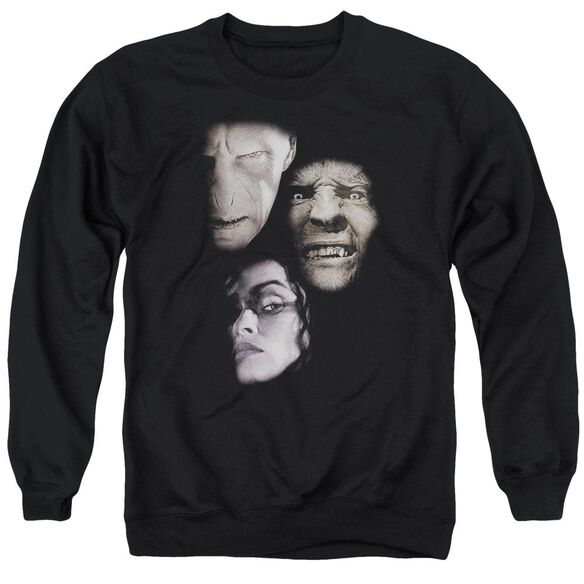 Harry Potter Villian Heads Adult Crewneck Sweatshirt