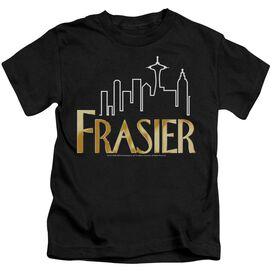 Frasier Frasier Logo Short Sleeve Juvenile Black T-Shirt