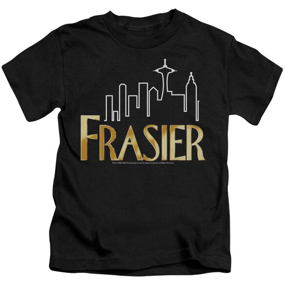 Frasier Frasier Logo Short Sleeve Juvenile Black T-Shirt