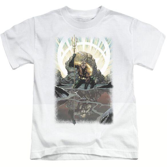 Jla Brightest Day Aquaman Short Sleeve Juvenile White T-Shirt