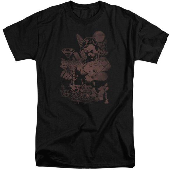 Superman Somber Power Short Sleeve Adult Tall T-Shirt