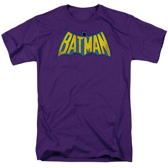 Dc Classic Batman Logo Distressed Short Sleeve Adult T-Shirt