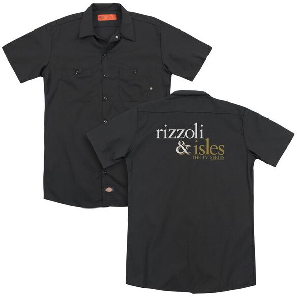 Rizzoli & Isles Logo (Back Print) Adult Work Shirt