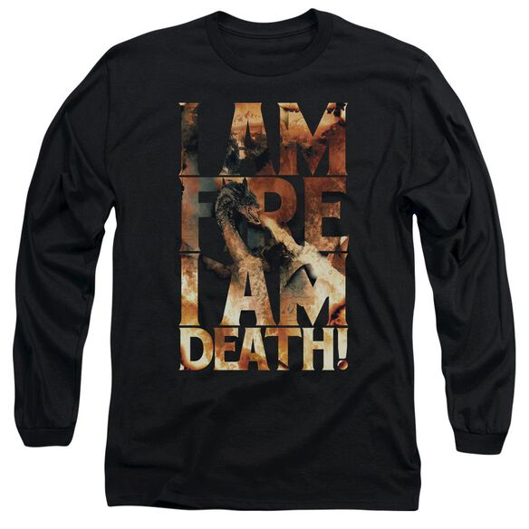 Hobbit I Am Fire Long Sleeve Adult T-Shirt