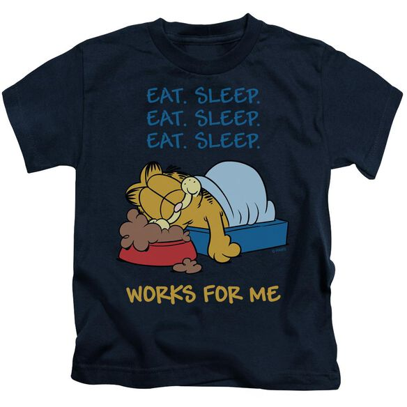 Garfield Works For Me Short Sleeve Juvenile T-Shirt