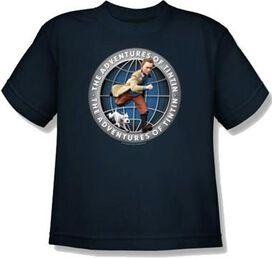 Adventures of Tintin Globe Juvenile T-Shirt