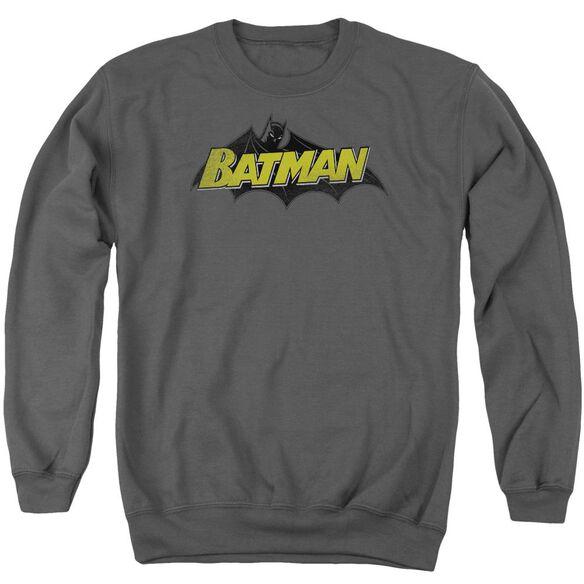 Batman Classic Comic Logo Adult Crewneck Sweatshirt