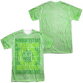 Green Lantern Oath (Front Back Print) Short Sleeve Adult 100% Poly Crew T-Shirt
