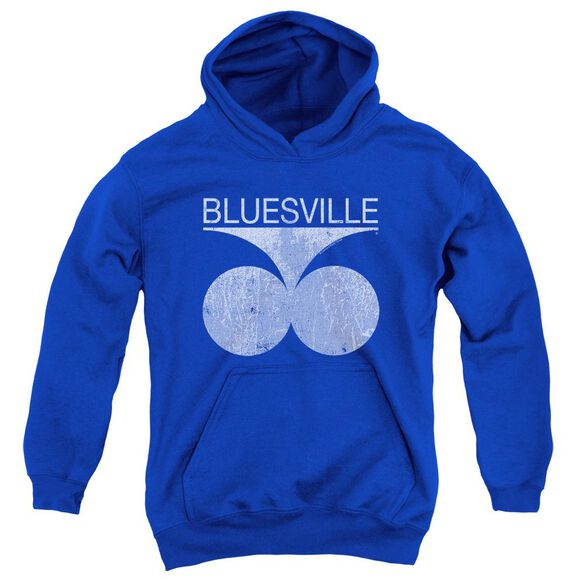 BLUESVILLE BLUESVILLE DISTRESS - YOUTH PULL - OVER HOODIE - ROYAL