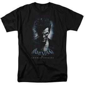 BATMAN ARKHAM ORIGINS JOKER-S/S ADULT 18/1 - HUNTER GREEN T-Shirt