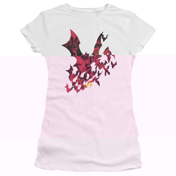 BATMAN BROKEN CITY - S/S JUNIOR SHEER - WHITE T-Shirt