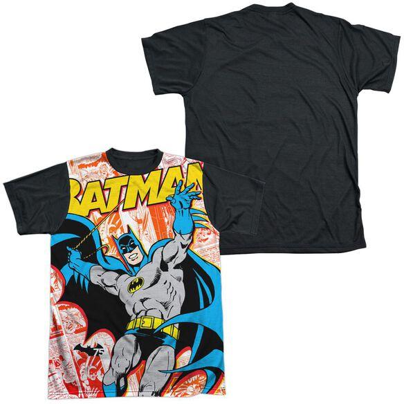 Batman 75 Panels Short Sleeve Adult Front Black Back T-Shirt