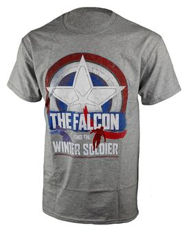 Marvel Falcon and the Winter Soldier Logo Gray T-Shirt