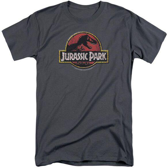 Jurassic Park Stone Logo Short Sleeve Adult Tall T-Shirt