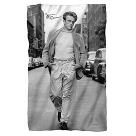 James Dean Walk Fleece Blanket