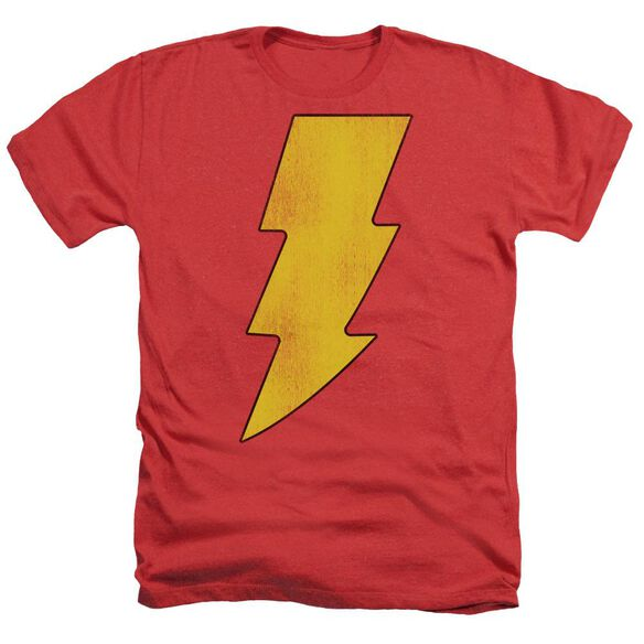 Dc Shazam Logo Distressed Adult Heather
