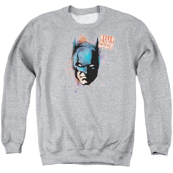 Batman Hello Adult Crewneck Sweatshirt Athletic