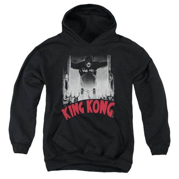King Kong At The Gates Poster Youth Pull Over Hoodie