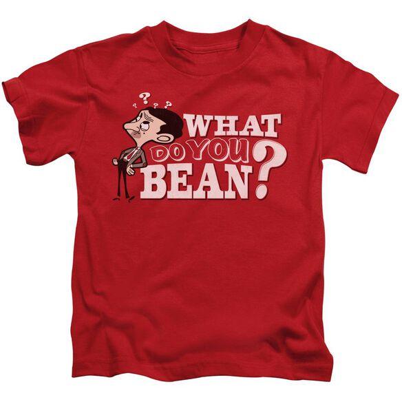 Mr Bean What You Bean Short Sleeve Juvenile Red T-Shirt