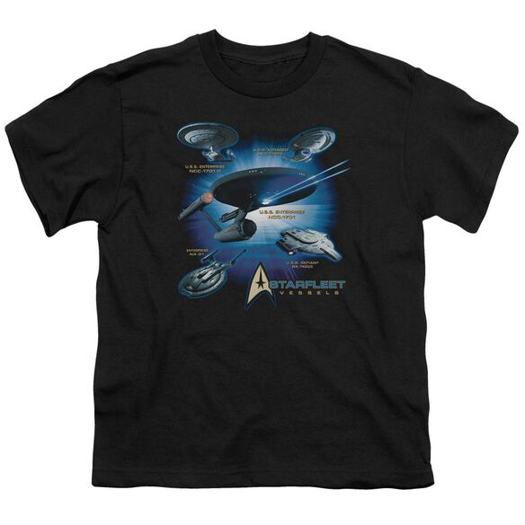 Star Trek Starfleet Vessels Short Sleeve Youth T-Shirt